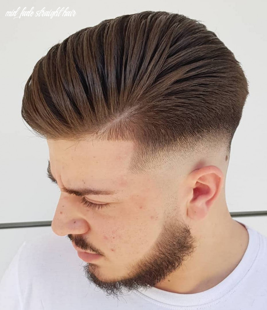10 the most fashionable mid fade haircuts for men mid fade straight hair