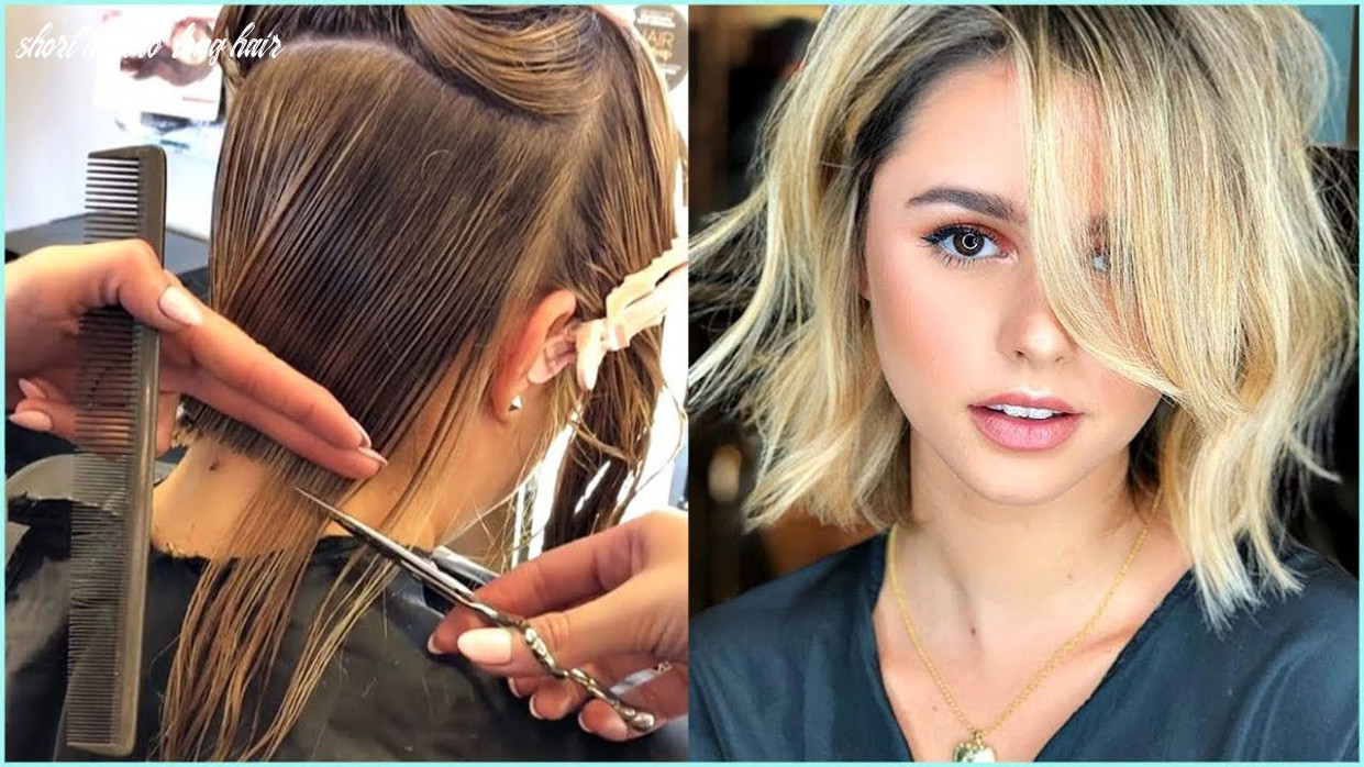 10 trendy before and after transformations from long hair to short hair ♥️ short haircuts ideas short hair to long hair