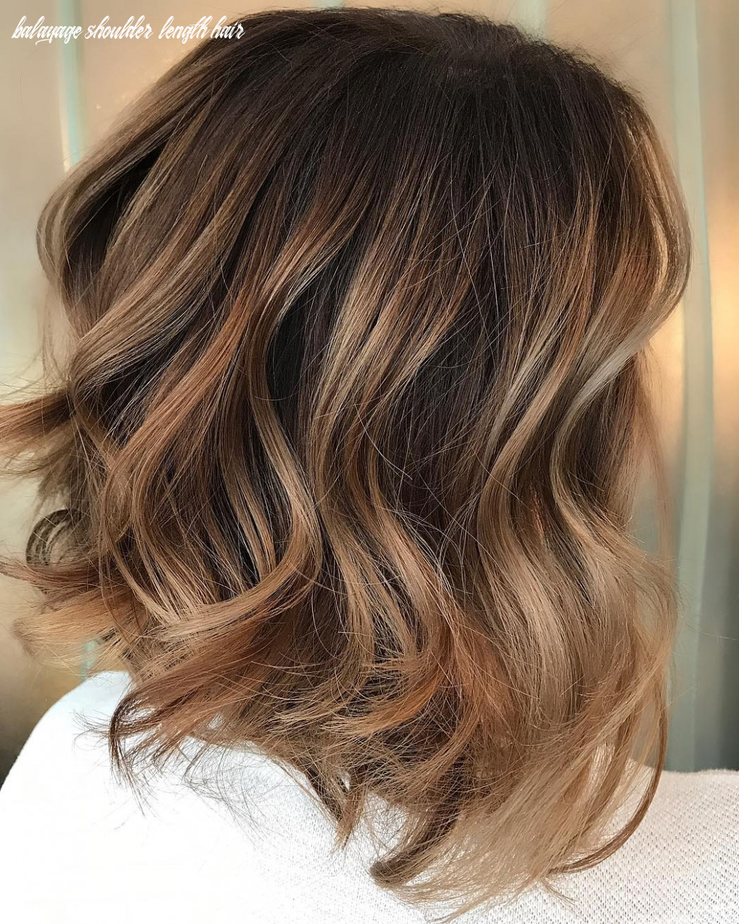 10 Trendy Brown Balayage Hairstyles for Medium-Length Hair 10