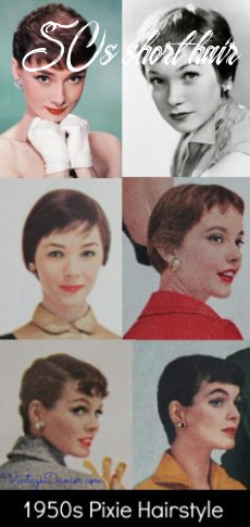 10s hairstyles 10s hairstyles from short to long 50s short hair