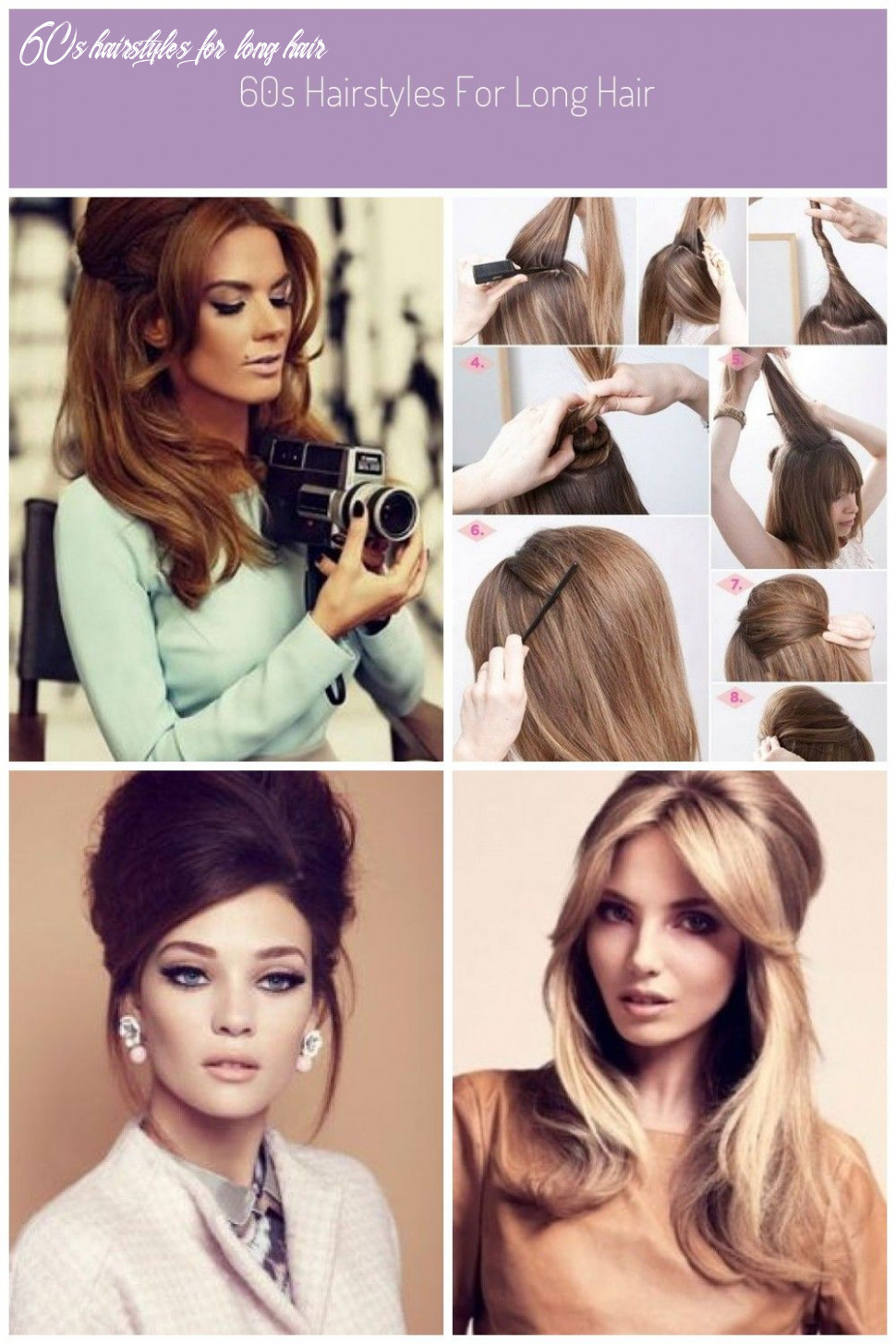10s hairstyles for long hair | long hair styles 60s hairstyles for long hair