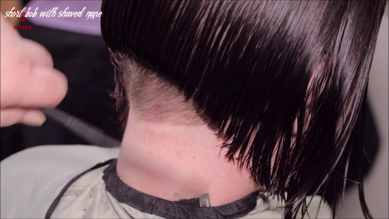 11 11 katerina preview long hair cut to bob with buzzed nape short bob with shaved nape