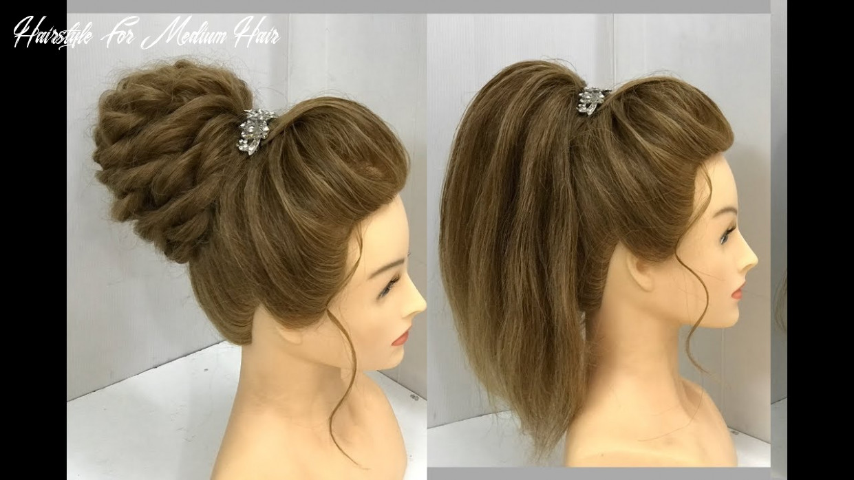 11 Beautiful Hairstyles for Medium Hair : Party Hairstyles