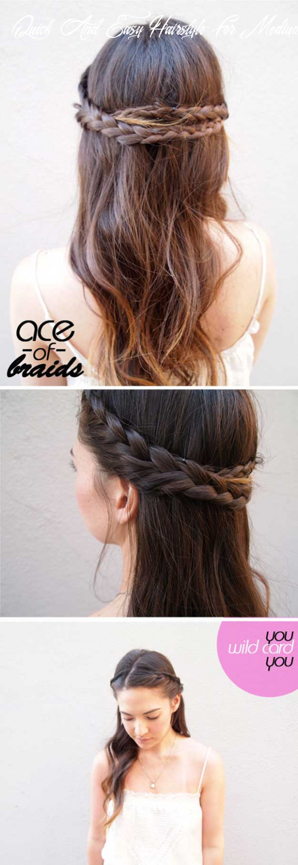 11 best 11 minute hairstyles the goddess quick and easy hairstyle for medium hair
