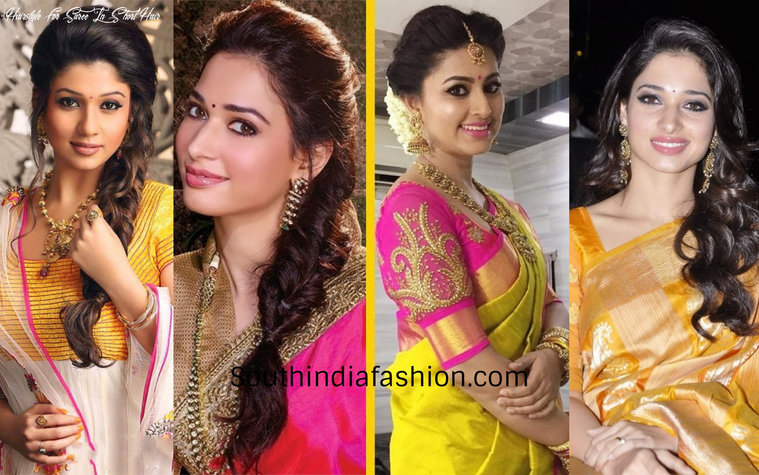 11 best hairstyles when you are dressed in a silk saree!! hairstyle for saree in short hair