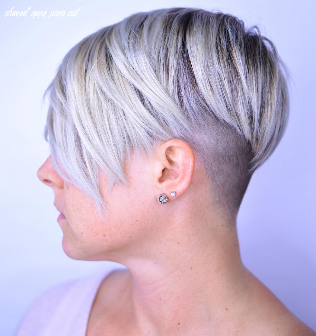 11 bold and daring takes on the shaved pixie cut shaved nape pixie cut