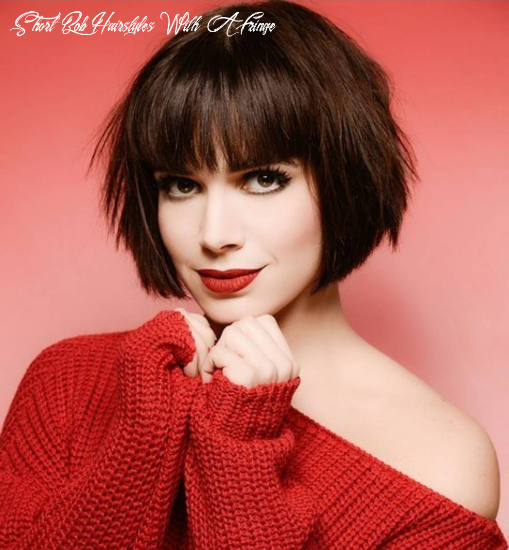 11 chic short bob haircuts that balance your face shape! short bob hairstyles with a fringe