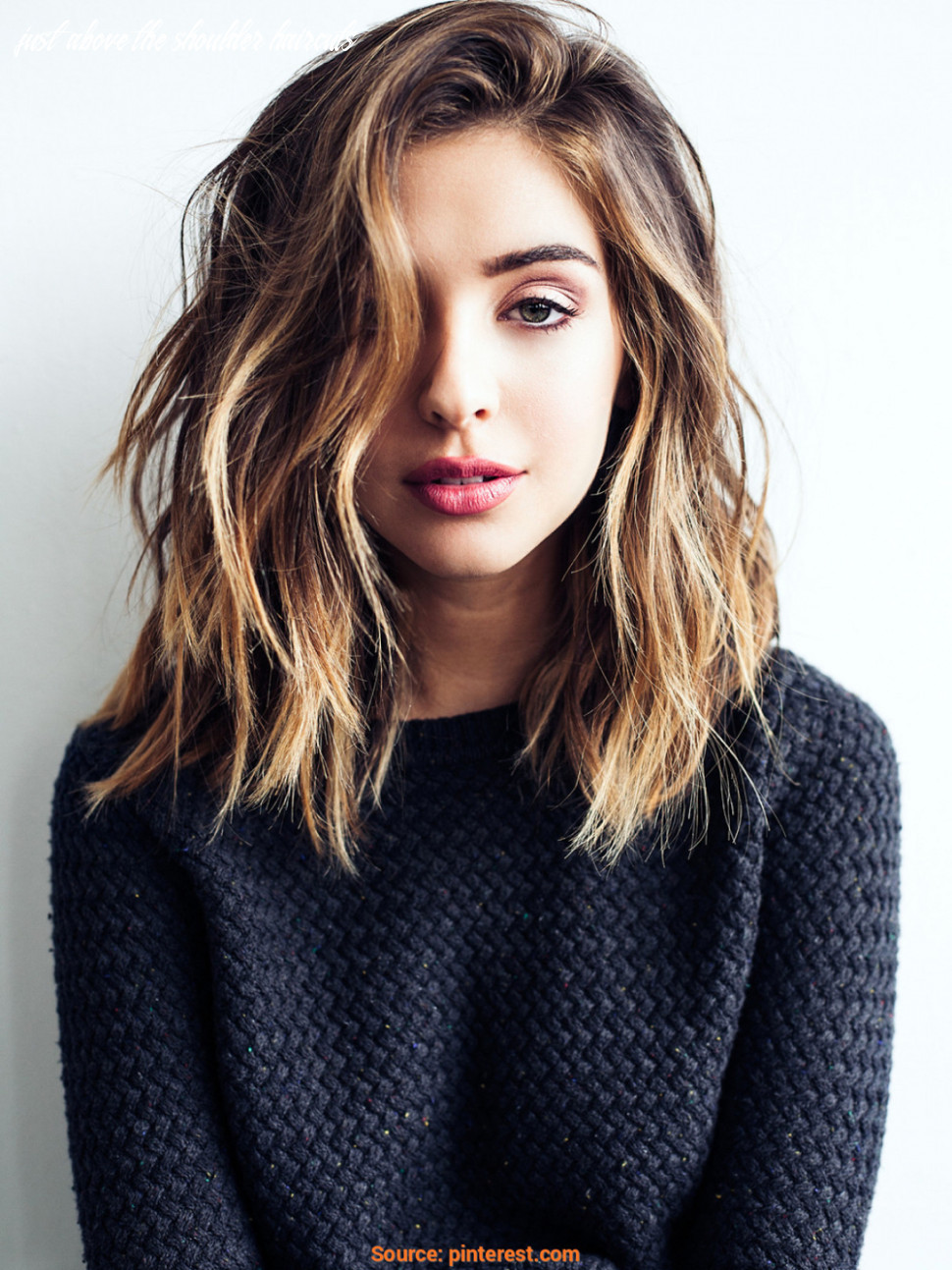 11 cute & easy hairstyles for shoulder length hair just above the shoulder haircuts