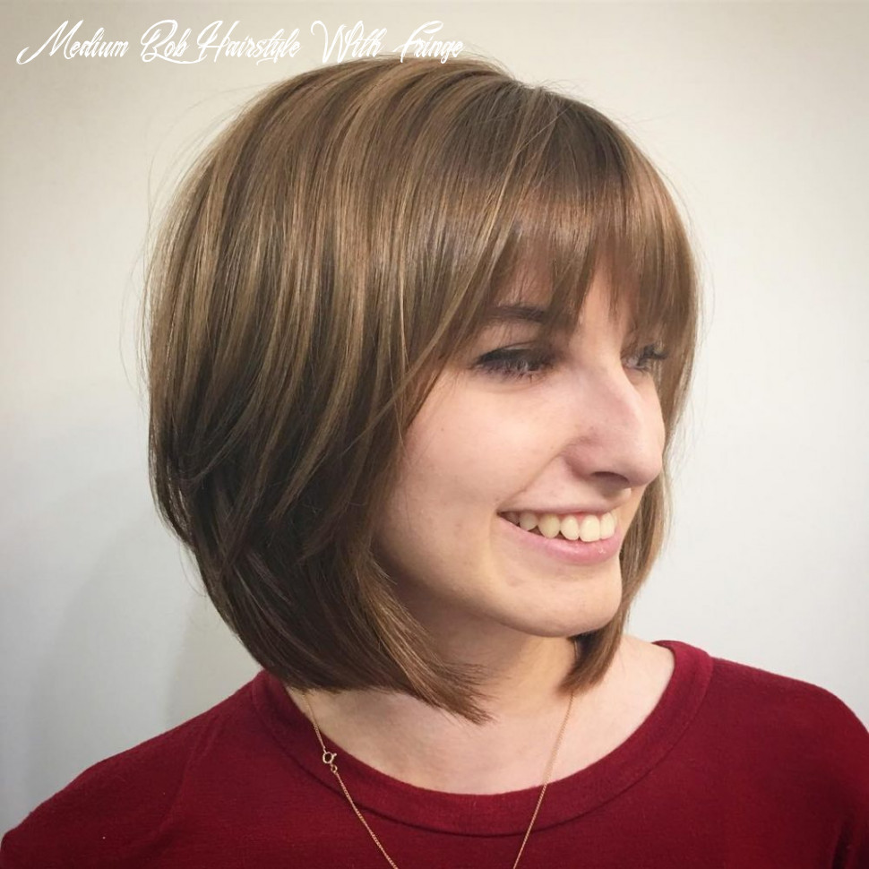 11 cute bob haircuts with bangs to copy in 11 medium bob hairstyle with fringe