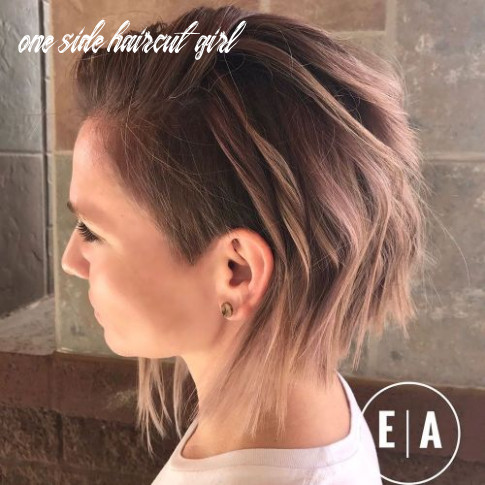 11 cute shaved hairstyles for women one side haircut girl