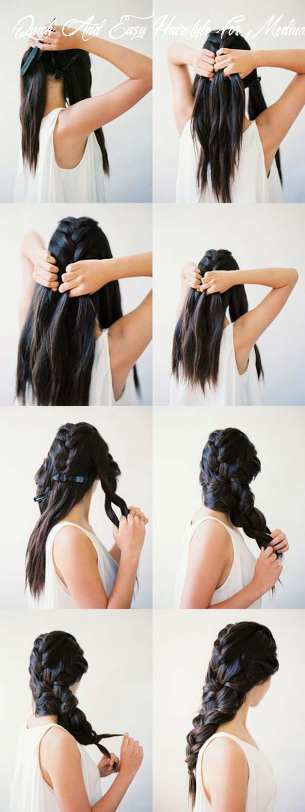 11 diy cool easy hairstyles that real people can actually do at home! quick and easy hairstyle for medium hair