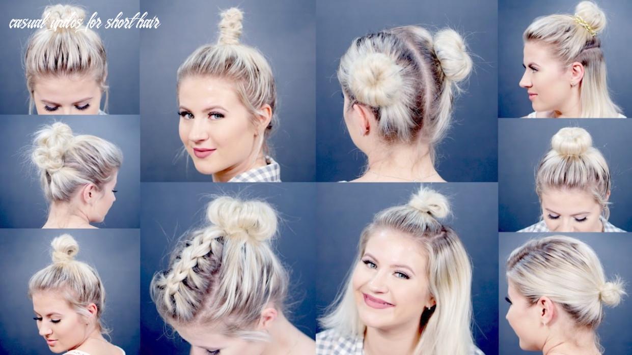 11 easy different bun hairstyles for short hair | milabu casual updos for short hair