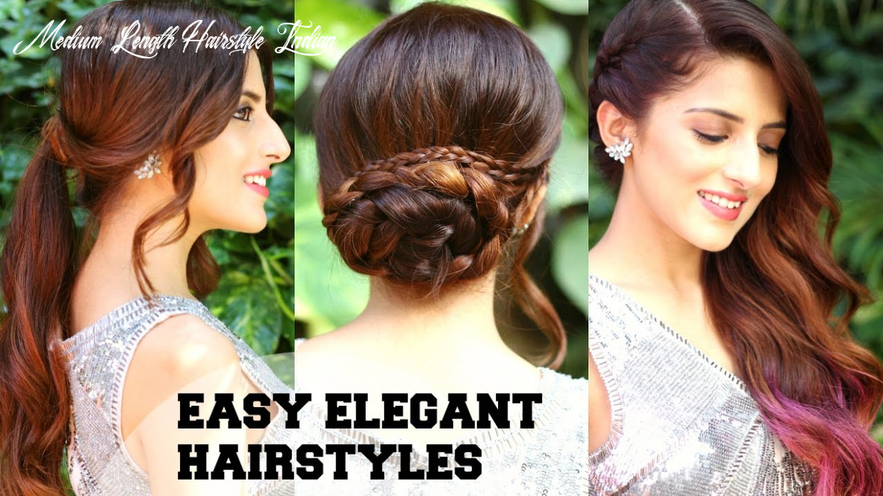 11 easy elegant romantic hairstyles / indian party hairstyles for medium to long hair/ bblunt medium length hairstyle indian