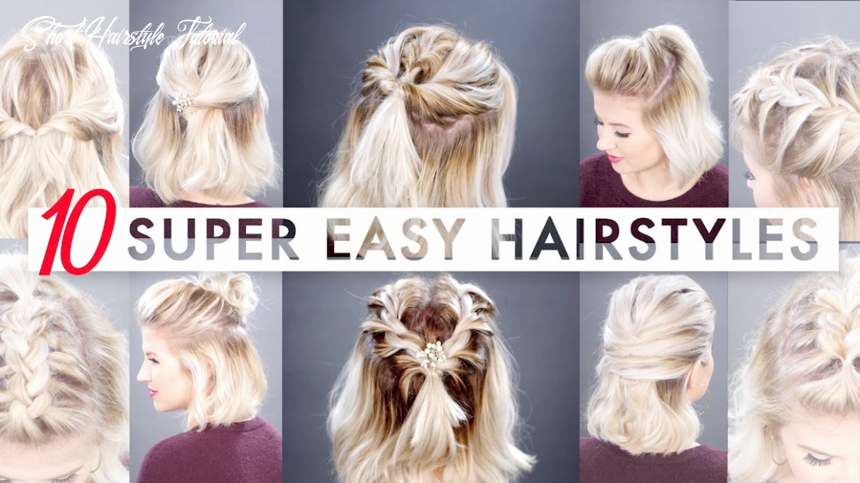 11 easy half up hairstyles for short hair tutorial   milabu short hairstyle tutorial