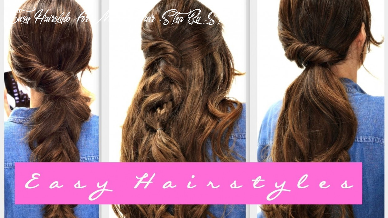11 easy lazy hairstyles | fall hairstyle for medium long hair easy hairstyle for medium hair step by step