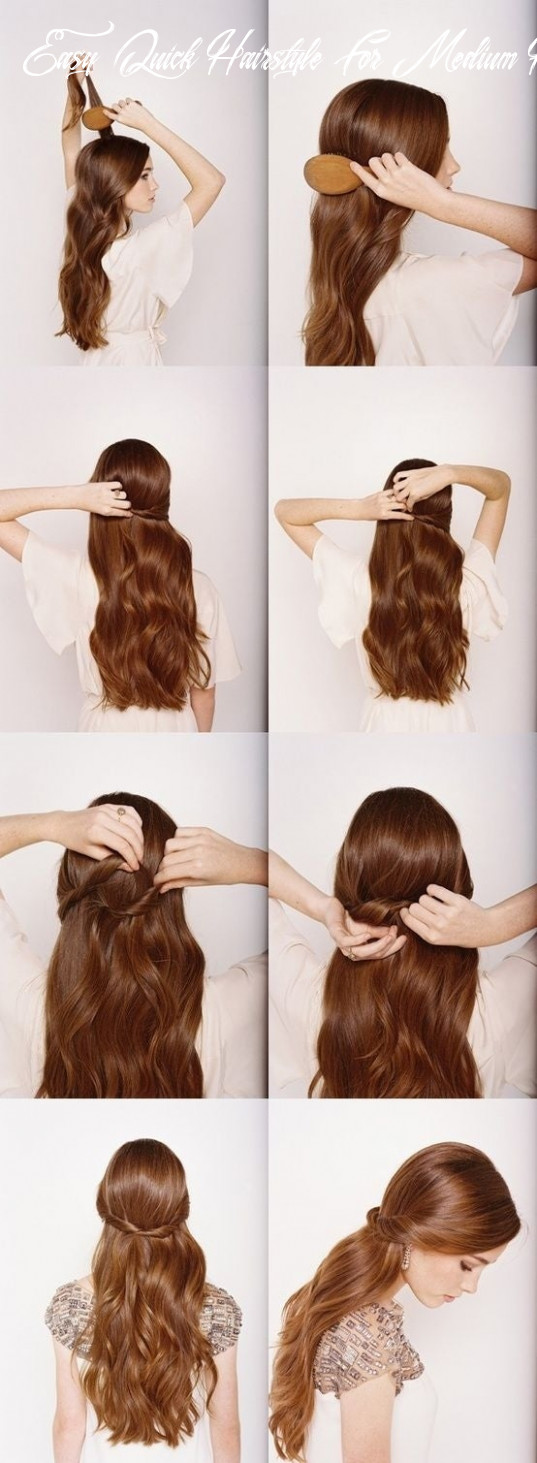 11 five minute hairstyles for busy mornings easy quick hairstyle for medium hair