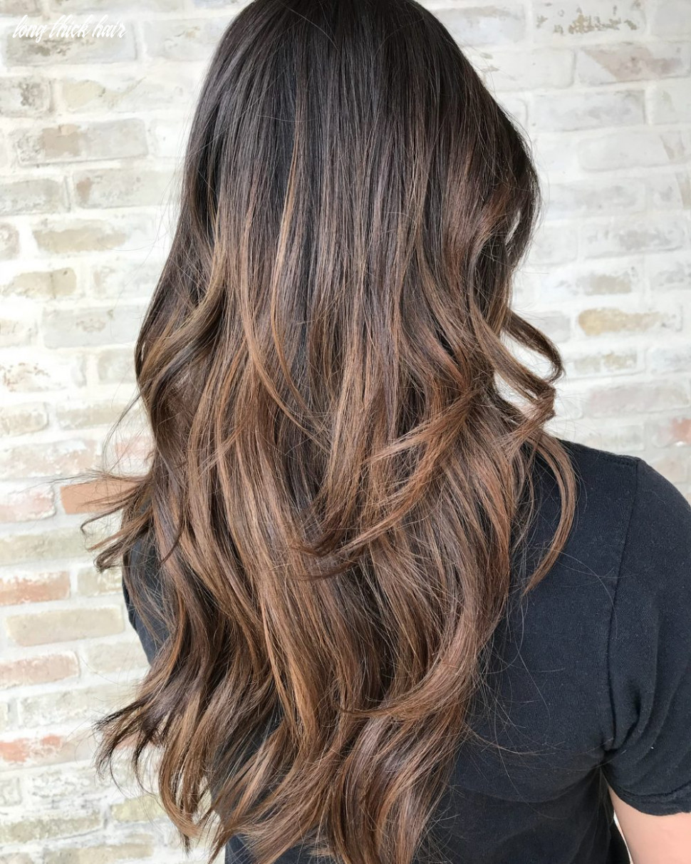 11 flattering haircuts for thick hair for 11 long thick hair
