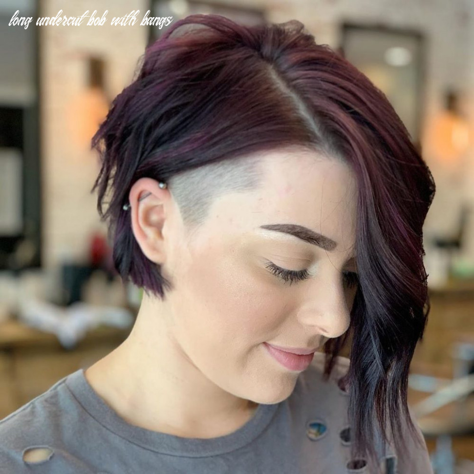 11 flattering undercut bob haircuts to consider this year long undercut bob with bangs