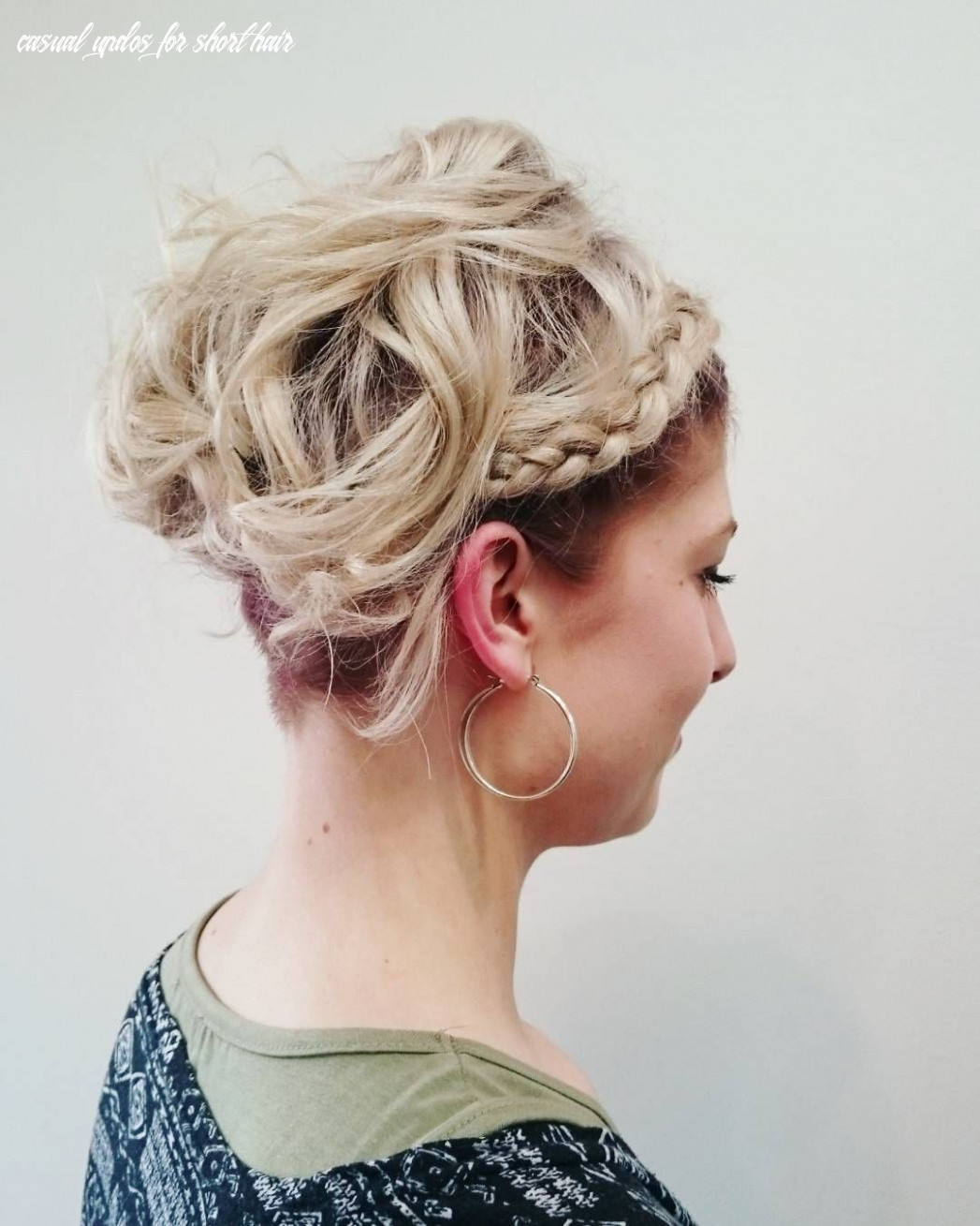 11 gorgeous updos for short hair | short hair updo, short wedding