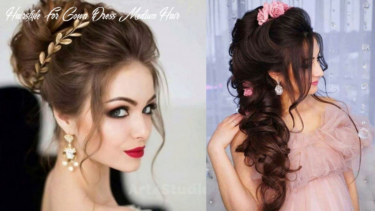 11 hair style on gown images hairstyle for gown dress medium hair