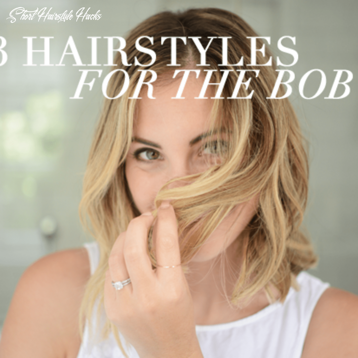 11 Hairstyle Hacks For a Short Bob - Cupcakes & Cashmere