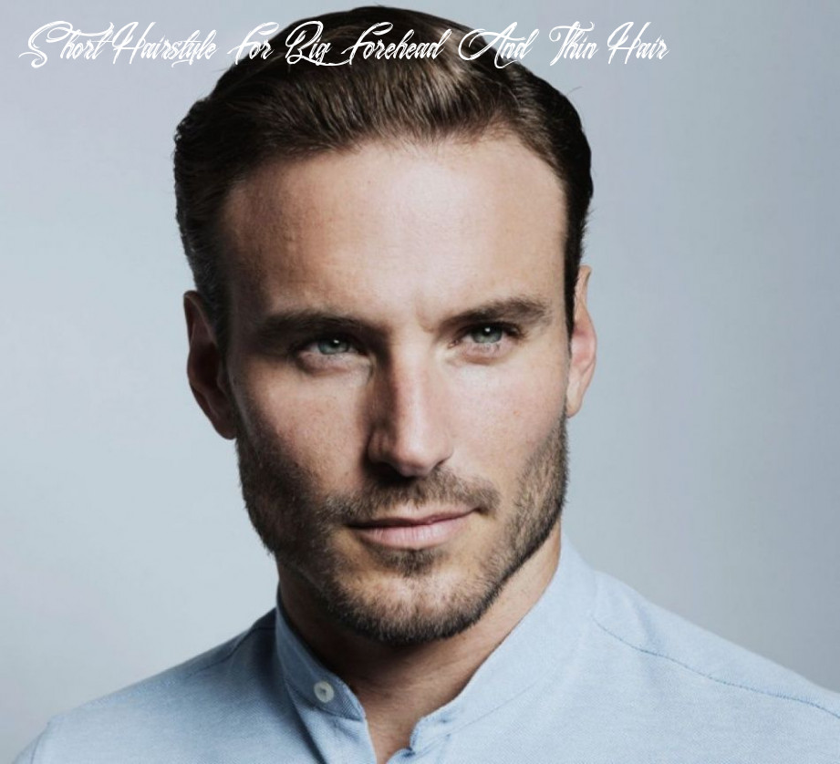 11 hairstyles for men with thin hair and big forehead short hairstyle for big forehead and thin hair