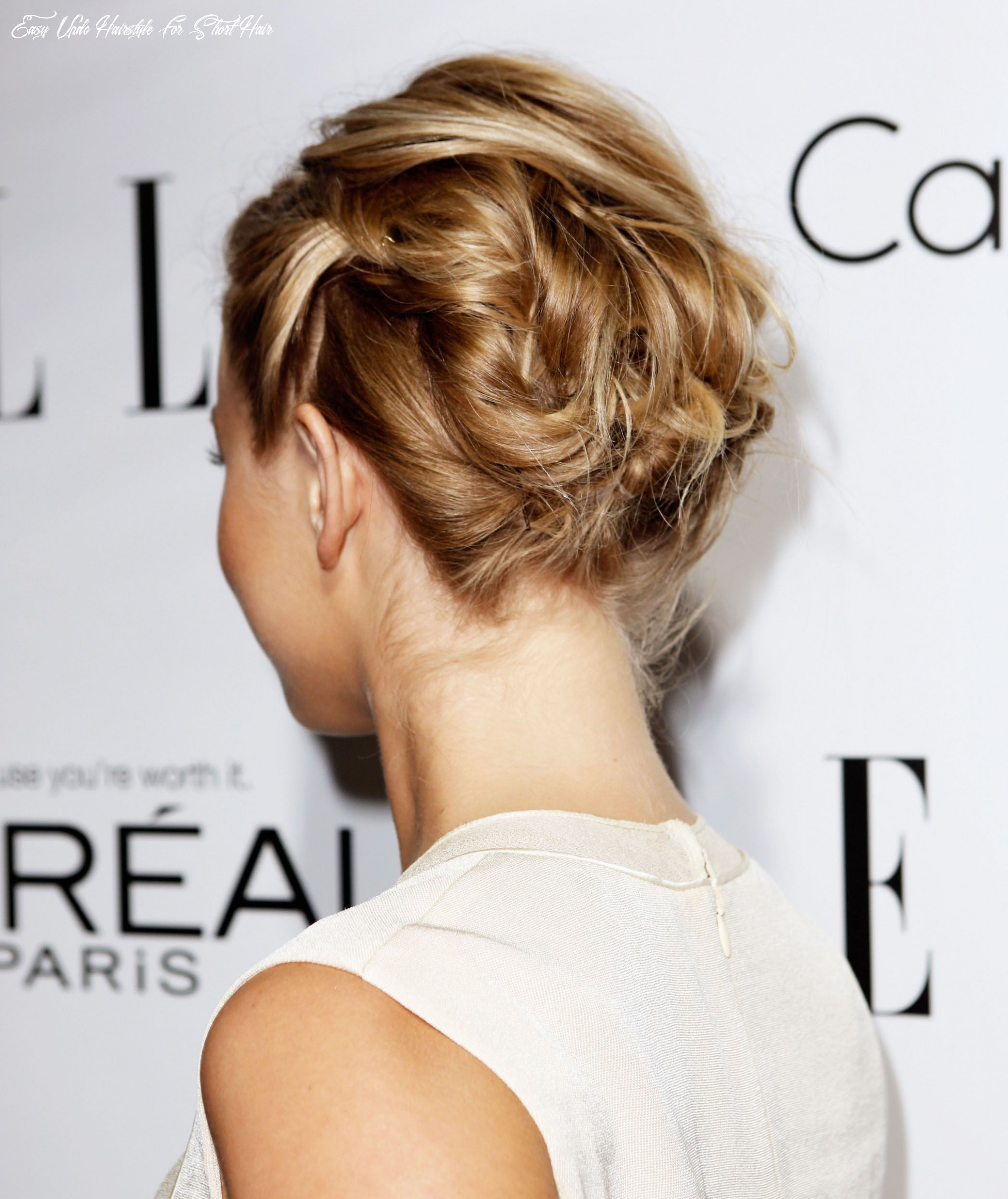 11 incredibly chic updo ideas for short hair easy updo hairstyle for short hair