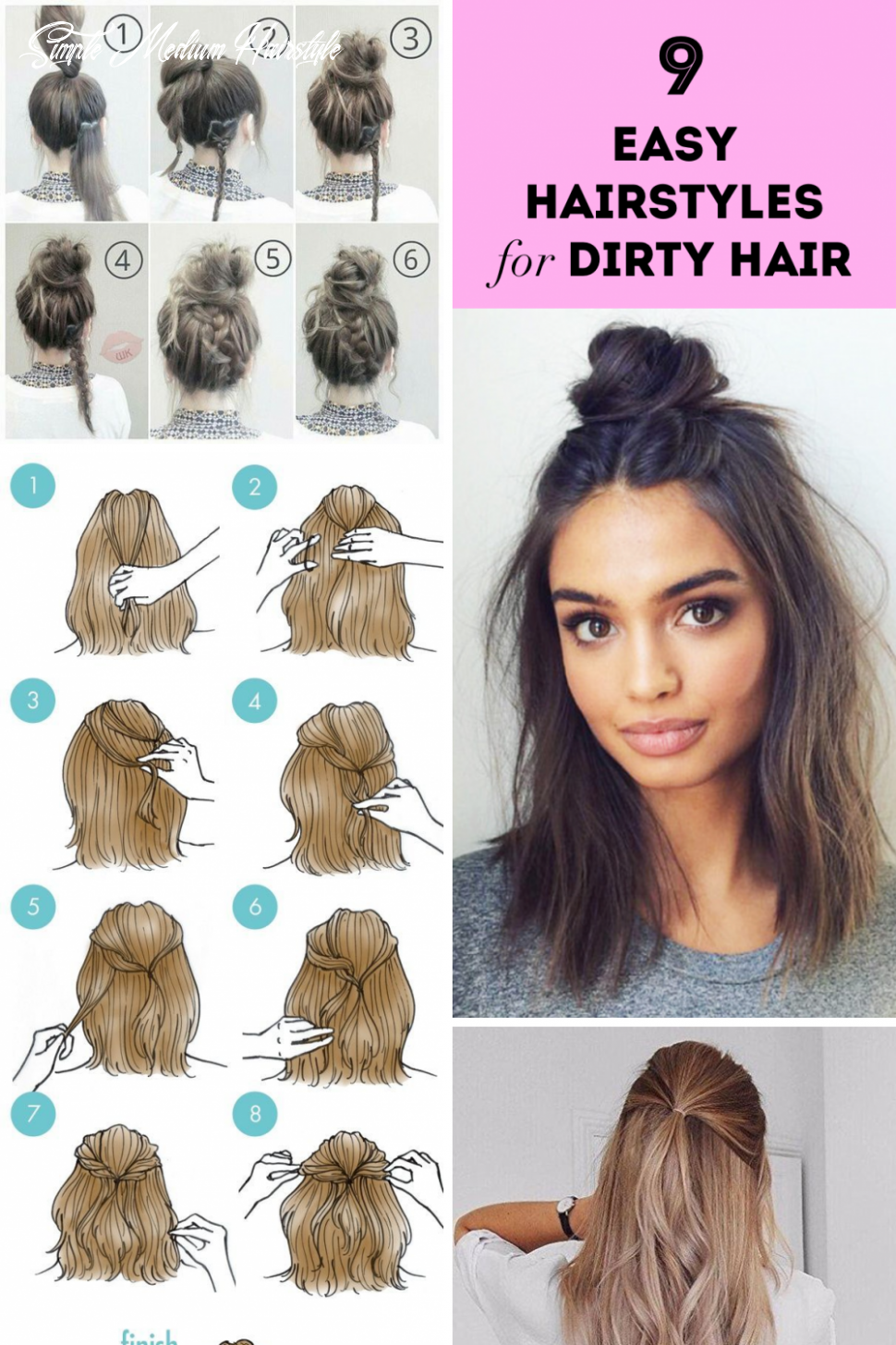 11 lovely easy hairstyles for medium hair simple and easy