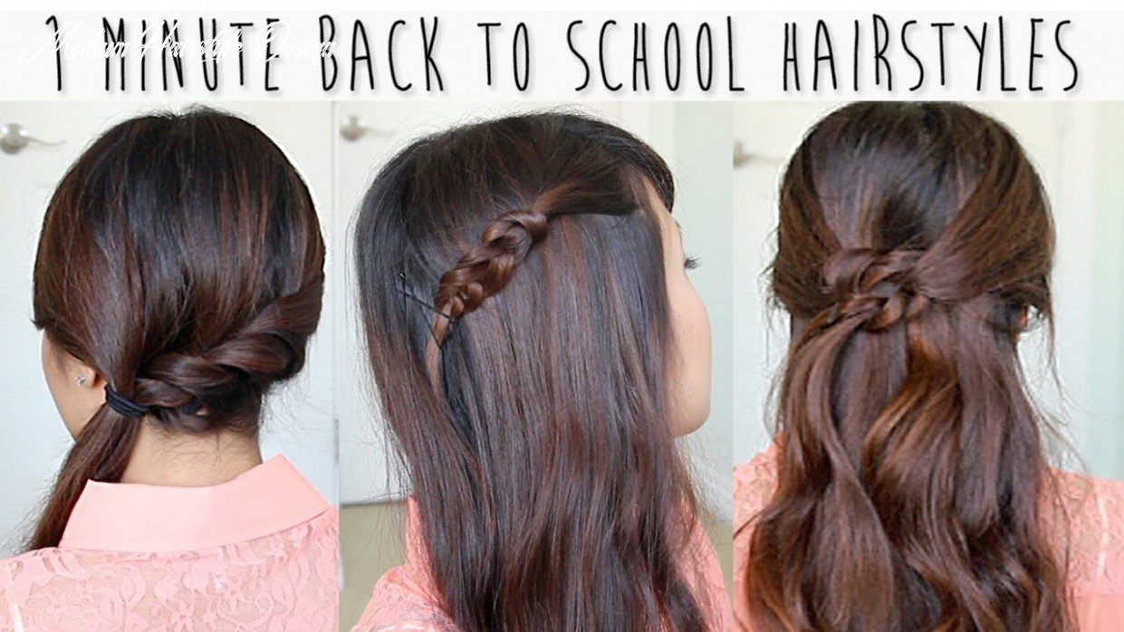11 Minute Back to School Hairstyles for Medium Long Hair Tutorial
