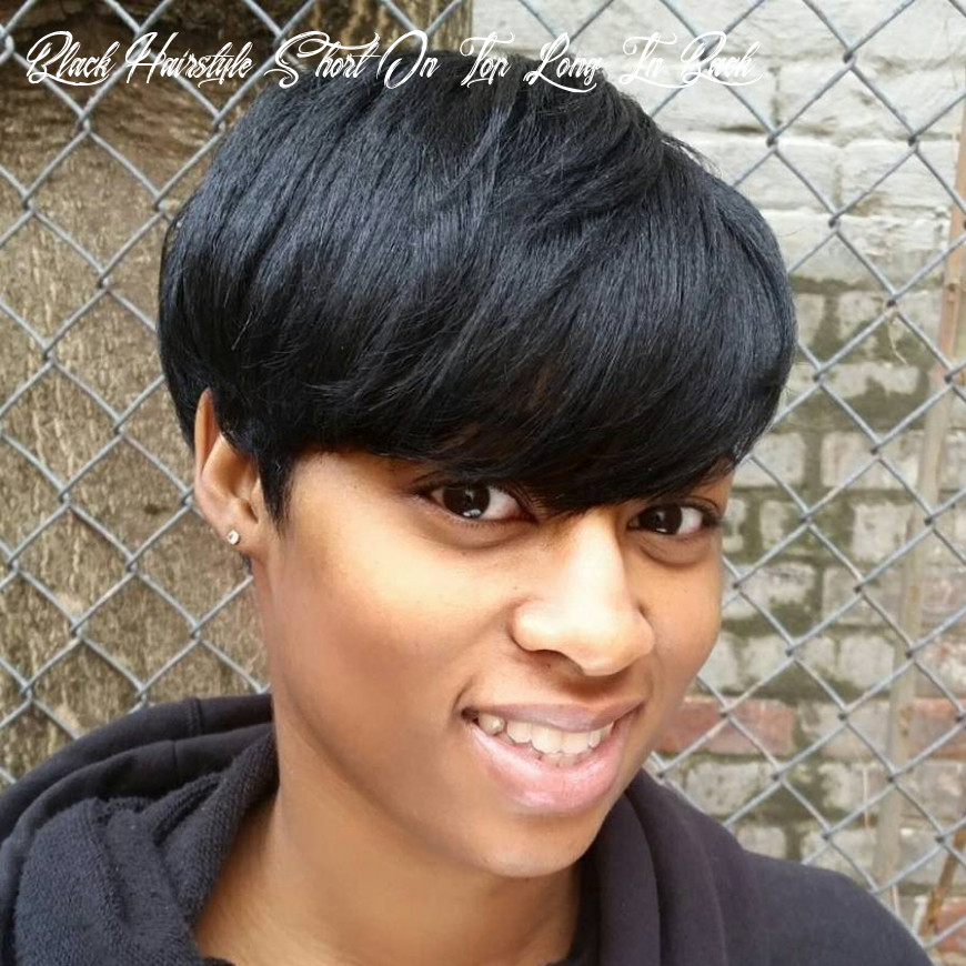11 most captivating african american short hairstyles and haircuts black hairstyle short on top long in back