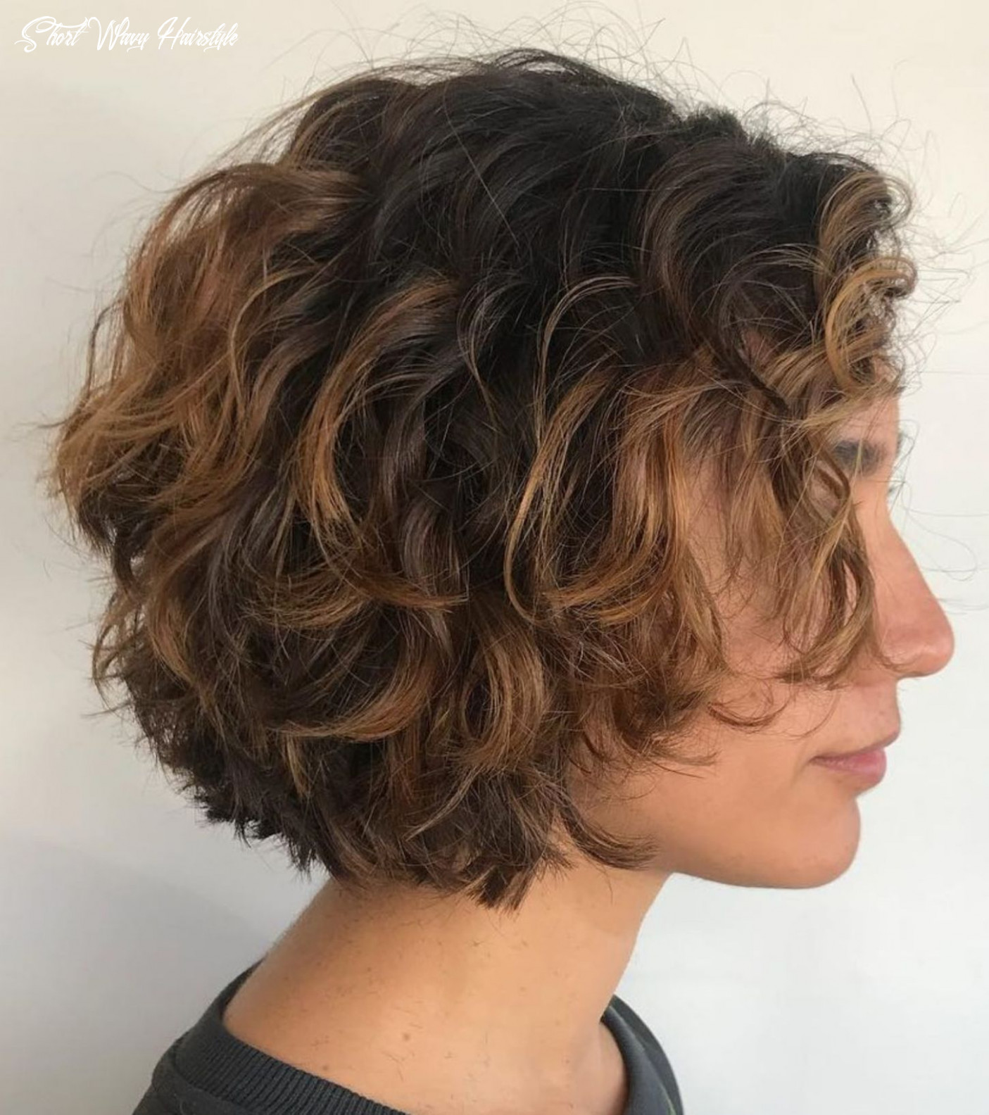 11 most delightful short wavy hairstyles | short layered curly