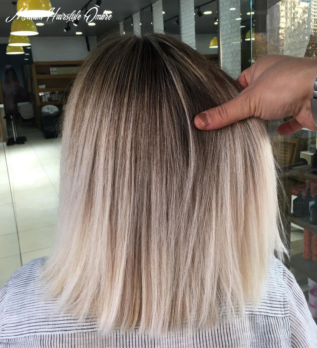 11 ombre hair colors for medium length brunettes with hairstyle medium hairstyle ombre