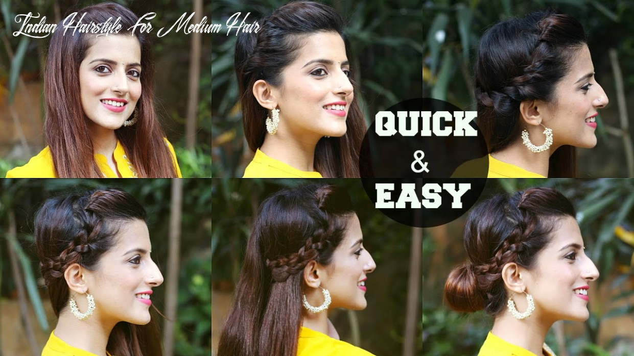 11 quick & easy indian hairstyles for medium to long hair / perfect side hair poof no teasing indian hairstyle for medium hair