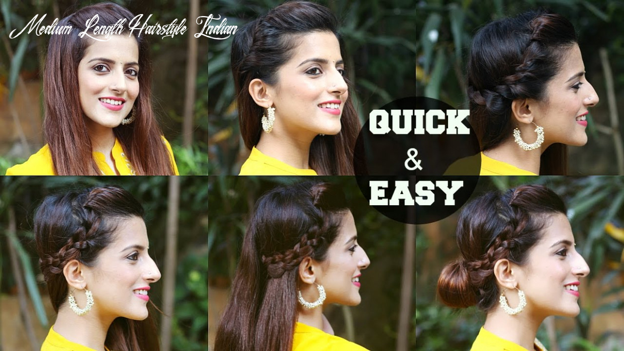 11 quick & easy indian hairstyles for medium to long hair / perfect side hair poof no teasing medium length hairstyle indian