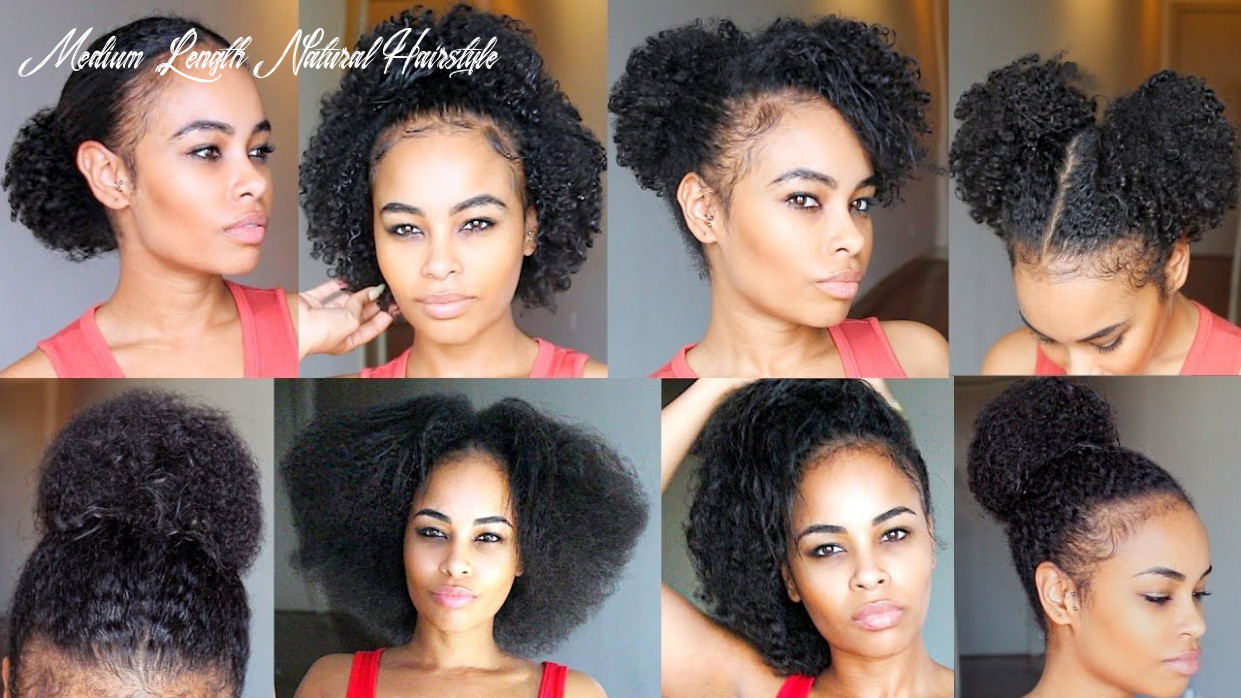 11 quick & easy natural hairstyles under 11 seconds! for short/medium natural hair medium length natural hairstyle