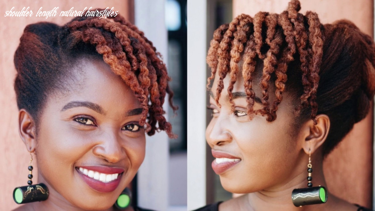 11 quick and easy natural hairstyles for medium length and long hair || just margie shoulder length natural hairstyles