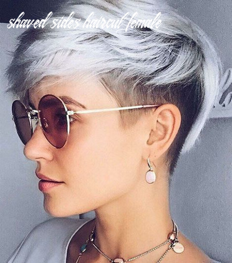 11 shaved sides haircut female ideas in 11 | frisuren