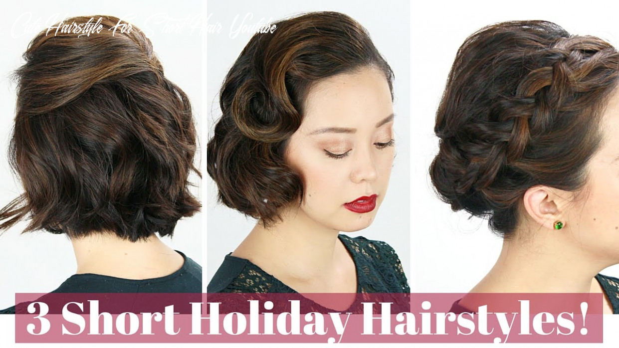 11 short hair holiday hairstyles! cute hairstyle for short hair youtube