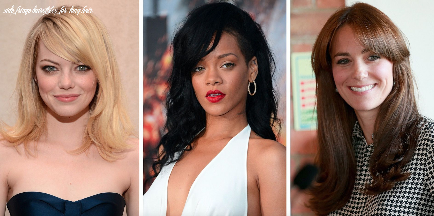 11 side fringe hairstyles for 11 celebrity inspiration side fringe hairstyles for long hair
