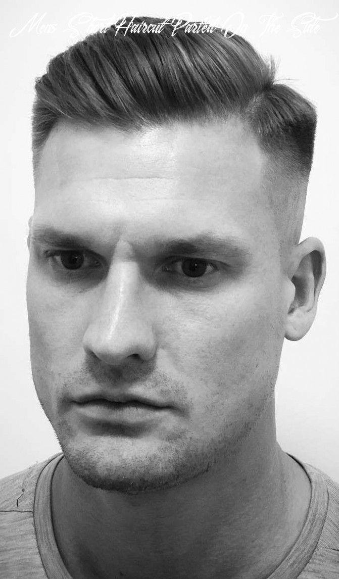 11 side part haircuts: a classic style for gentlemen mens short haircut parted on the side
