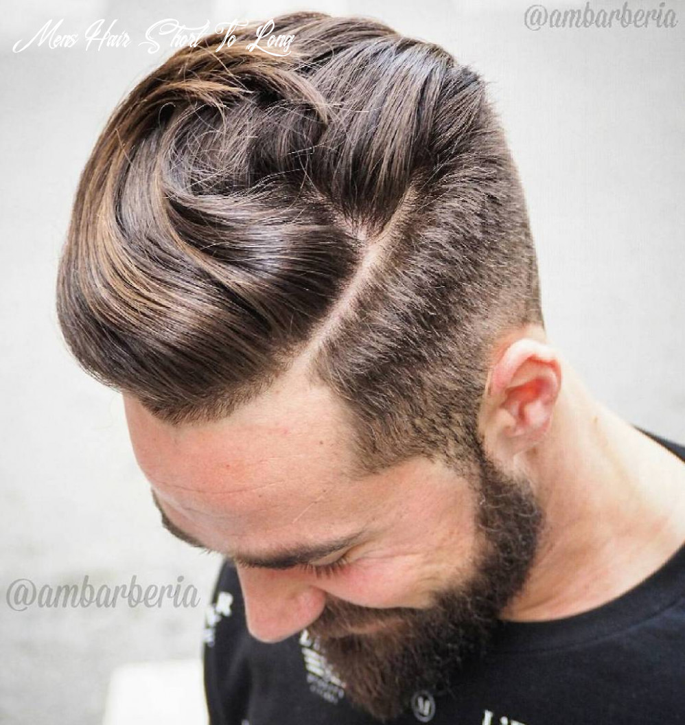 11 statement hairstyles for men with thick hair mens hair short to long