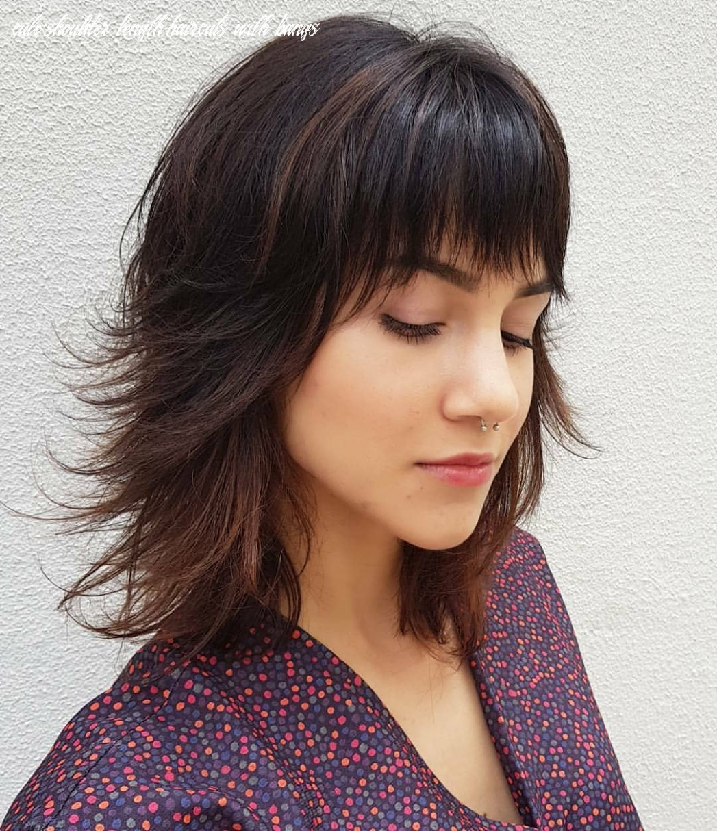 11 super cute and easy medium hairstyles 11 cute shoulder length haircuts with bangs