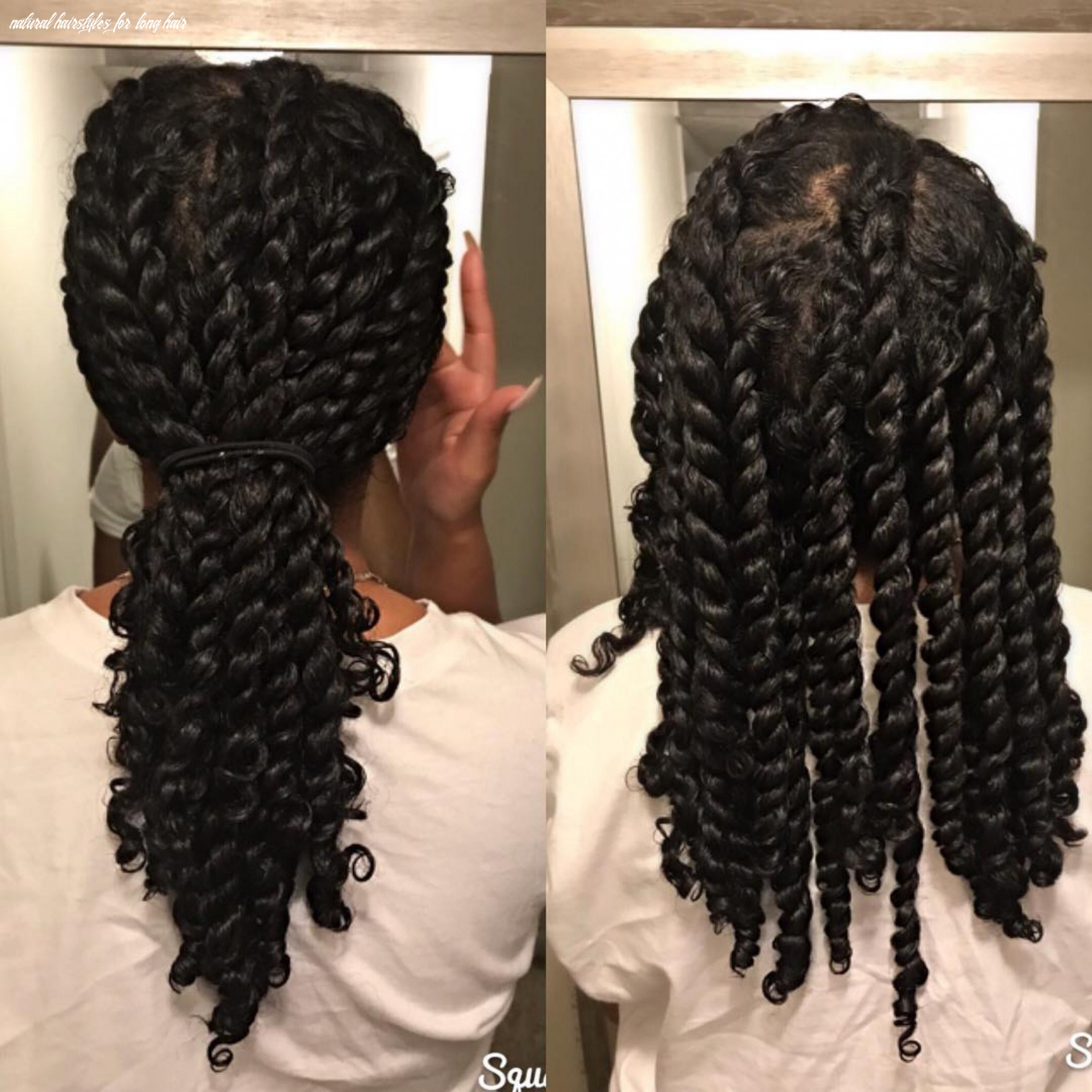 11 super cute protective styles for winter | long natural hair