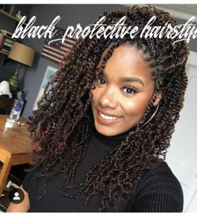 11 super cute protective styles for winter | twist braid hairstyles
