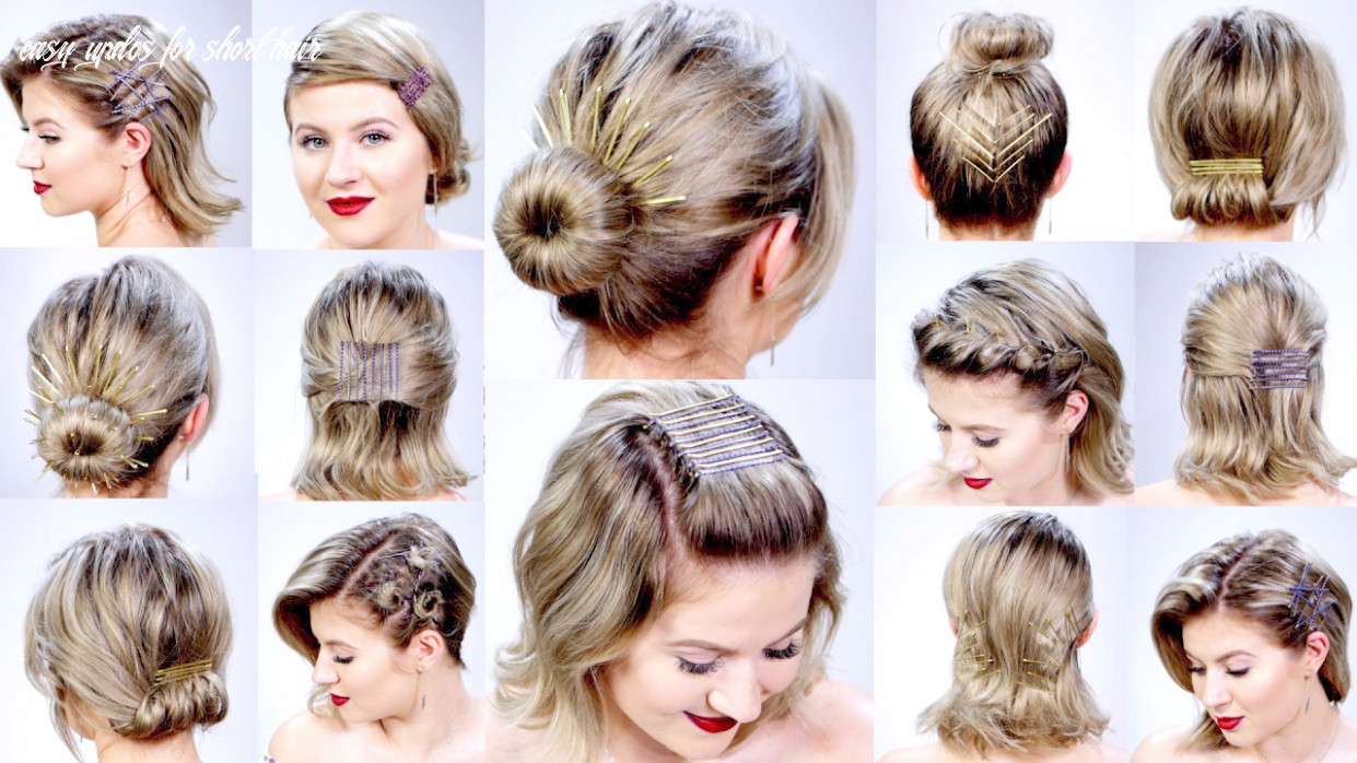 11 super easy hairstyles with bobby pins for short hair | milabu easy updos for short hair