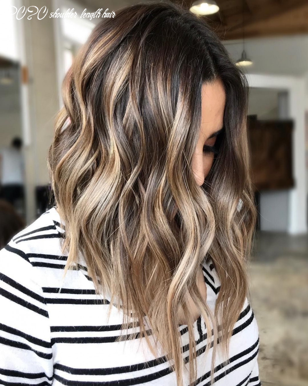 11 top shoulder length hairstyles wavy hair, women medium