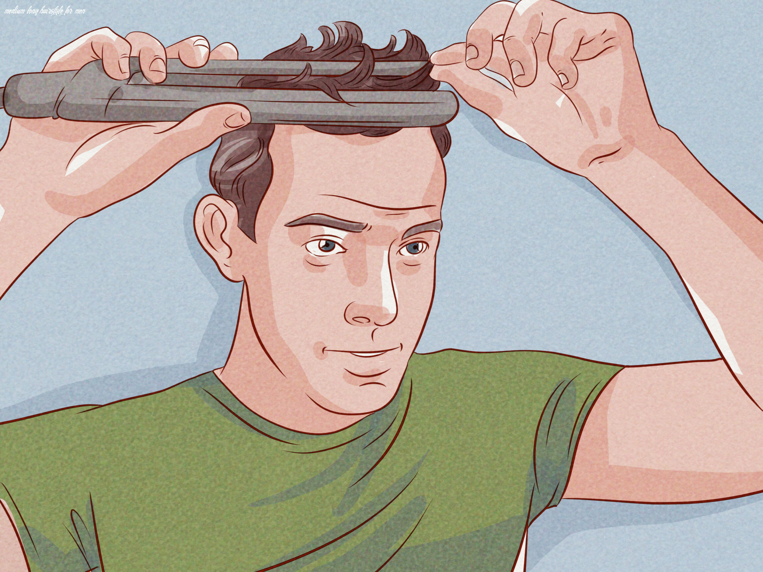 11 Ways to Style Medium Length Hair for Men - wikiHow