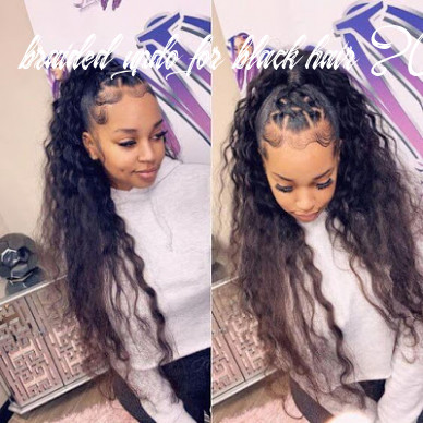 12 amazing braided updos ponytails for black hair that turn heads