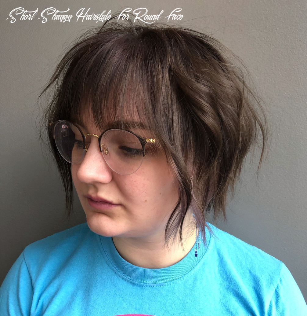 12 amazing haircuts for round faces hair adviser short shaggy hairstyle for round face