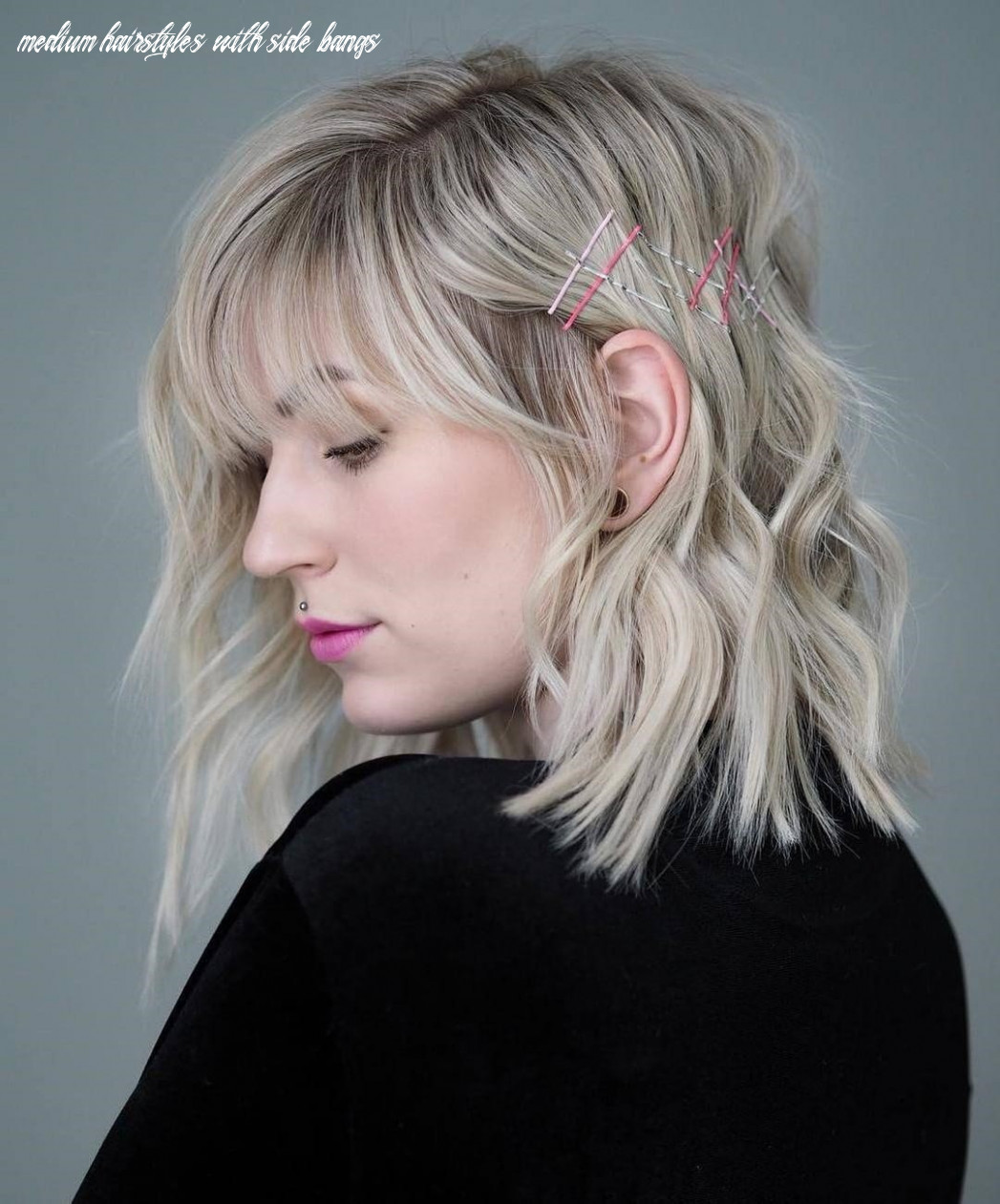 12 Amazing Medium Hairstyles with Side Bangs In 12 - The Leader ...